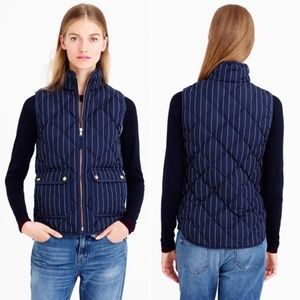 J.Crew Excursion Puffer Vest Navy Blue Quilted S